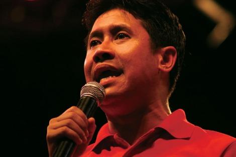 '붉은 셔츠' 시위대의 지도부 자크라 폽 펜카이르 (Photo by Lee Yu Kyung)