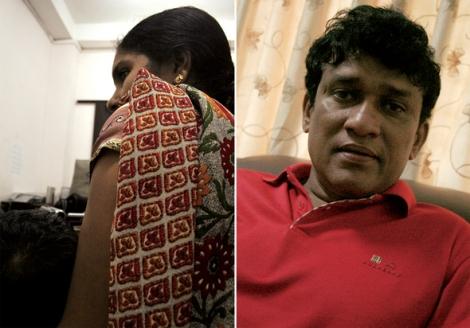 콜롬보에서 10년째 살고 있다는 타밀족 여성 슈린(가명·왼쪽)의 남편은 2007년 1월 '흰색 밴'을 탄 사내들에게 납치된 뒤 이제껏 소식이 없다고 했다. 타밀족 출신인 마노 가네샨 의원은 '납치감시위원회' 운영을 주도하고 있다.(Photo by Lee Yu Kyung)