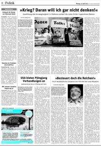 Der artikel @ Neues Deutschland 15.04.2013