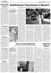 Der artikel @ Neues Deutschland  08.04.2013