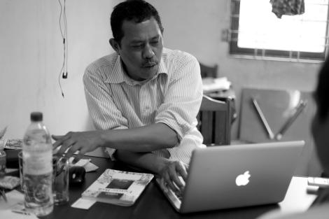 버마학생민주전선 (ABSDF)이 두 정파로 쪼개진 기간 (1992-96) 한 정파 의장이었던 모티준은 당시 분열에 대해 ''책임을 크게 느낀다''고 말했다. (Photo © Lee Yu Kyung 2013)