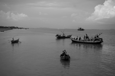 Many of residents in Sittwe used to be working on fishing boats. Ever since violence in 2012, however, Muslims fisher men have been all driven out of the port area as well as other part of the city. (Photo © Lee Yu Kyung)