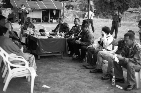 Representatives of Ethnic Armed Organizations arrived and gathered first in jungle area in Kachin State. The Conference was held late last year in Laiza at the China-Kachin border. It was organized by Kachin Independence Organization in a bid to discuss common strategy among ethnic groups regarding 'nationwide ceasefire' which Burmese government ambitiously has been pushing for months by then. KIO is one of the two ethnic groups which have not signed ceasefire with Burmese government as of June 2014. (Photo © Lee Yu Kyung)