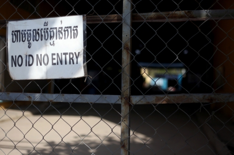 The gate of International Fashion Royal owned and run by South Korean investor in Canadia Industrial Park in Phnom Penh. South Korean garment investors, notably Yakjin Trading Co. along with South Korean Embassy have been accused of their alleged role by pressuring Cambodian government take proper 'measure' on the strike. (Photo © Lee Yu Kyung)