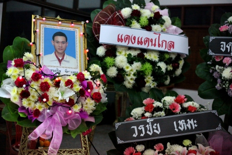 Surakrit Chaimonkul (36) died in prison. He was accused of gunning down anti-election activist on January 26 2014. He denied all charges. (Photo © Lee Yu Kyung 2014)