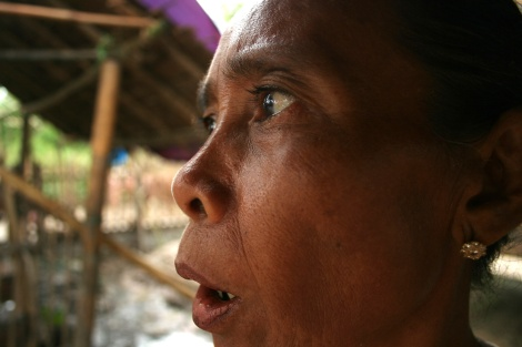 A victim of Cyclone Nargis was dismayed by response of the military government blocking humanitarian aid to the disaster zone. (© Lee Yu Kyung 2008)