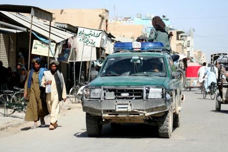 칸다하르 풍경. 최근 공식 사망한 것으로 확인된 탈레반 지도자 물라 오마르는 탈레반 집권 기인 1996~2001년 수도 카불이 아닌 이곳 칸다하르에 머물렀다. (©  Lee Yu Kyuyng)
