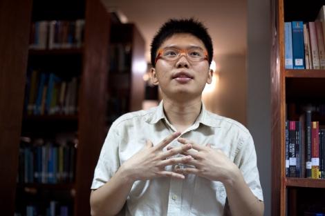 네티윗 초티팟파이산은 타이 역사상 최초의 양심적 병역 거부자다. 지난 해 (2014) 18세 생일 기념으로 병역거부 선언문을 발표했다. 잦은 쿠테타, 대시민학살, 역사왜곡 등 군인정치로 얼룩진 타이역사에 대한 거부선언이기도 하다. (© Lee Yu Kyung)