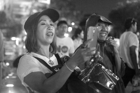 Outstandingly, many of participants in anti-coup rally are middle-aged men and women © Lee Yu Kyung 2016
