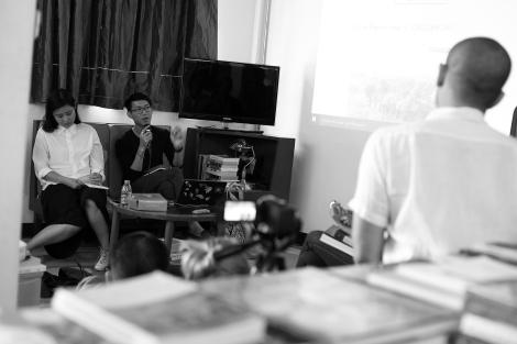 Vuth Lyno, Artistic Director of Sa Sa Art Projects in Phnom Penh, Cambodia (© Lee Yu Kyung)