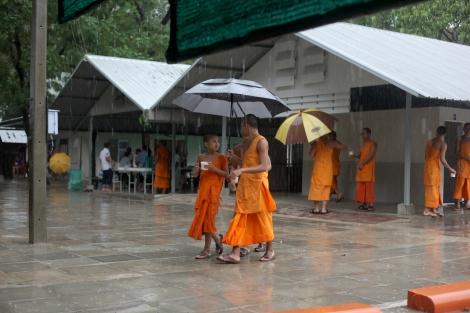 담마까야 사원에는 300명의 누비승들이 승려입문 7년과정을 밟고 있다. 다른 사원과 달리 승려가 늘고 있다는 게 사원측 설명이다. (© Lee Yu Kyung)