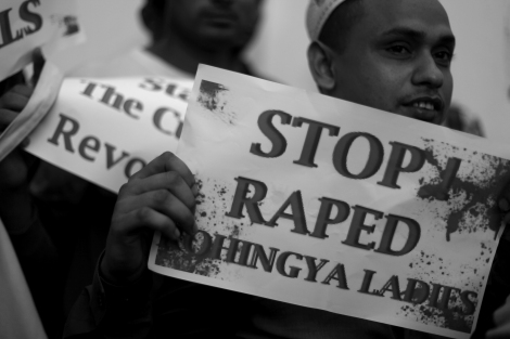 Stop to Rape!! Rohingya Protest Bangkok. Stop the Military operation. End the Ethnic Cleansing © Lee Yu Kyung 2016