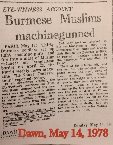 1978.May.14_Dawn_BurmeseMuslimsMachingunned